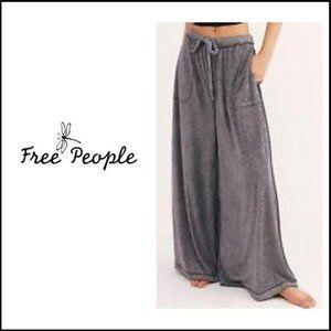 NWT FREE PEOPLE High Rise Wide Leg Lounge Pants, L